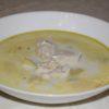 Нежный сливочный суп с куриным филе