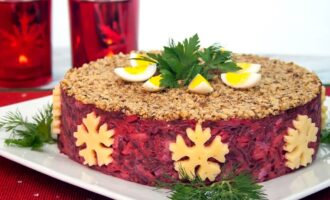 Вкусные и красивые салаты на Новый год