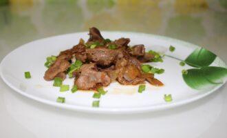 Куриные желудочки в соевом соусе